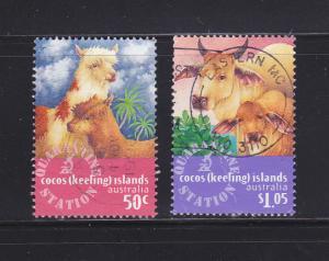 Cocos Islands 320-321 U Animals