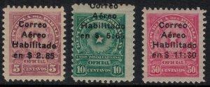 Paraguay #C1-3*  CV $5.50