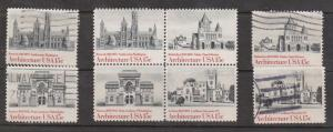 USA Scott # 1841a MH & Used Sets - American Architecture Issue
