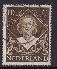 Netherlands   #304  used  1948  Juliana  10c