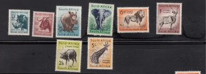 J28461, 1959-60 south africa mnh set #221-8 wild animals wmk 330