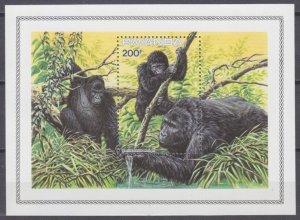 1985 Rwanda 1296/B103 Fauna - Monkeys 10,00 €