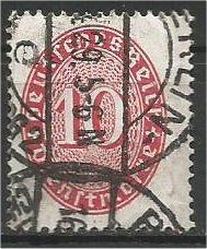 GERMANY, 1932, used 10pf, Numeral Scott O68