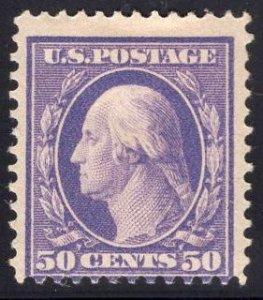 US Stamp #341 50c Washington MINT Hinged SCV $275