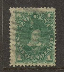 Newfoundland - Scott 44- Pictorial Definitive - 1880 - Used - Single 1c Stamp