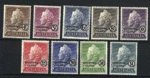 Christmas Island #2-10   M NH VF 1958  PD