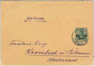 57933 -  GERMANY Levant - POSTAL HISTORY: Rare NEWSPAPER WRAPPER to AUSTRIA