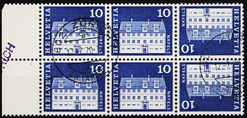 Switzerland.1964 10c(Block of 6) S.G.699 Fine Used