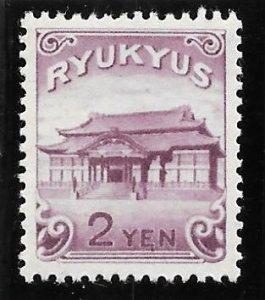 RYUKYU Scott #10 Mint 2 Yen Shuri Castle 2018 CV $9.00
