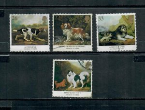 G.B 1991 COMMEMORATIVES  SET DOGS USED  h 141220