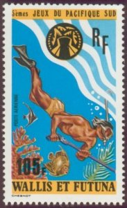 Wallis and Futuna 1975 #C64 MNH. Sports