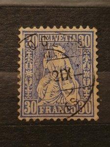 Switzerland 1867, 30c Fine Used #06