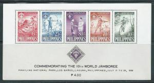Philippines CB3a 1959 Scout Jamboree s.s. MNH