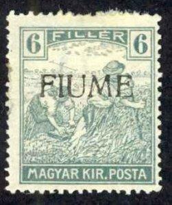 Fiume Sc# 6 MH (b) 1918 6f Hungary Overprint