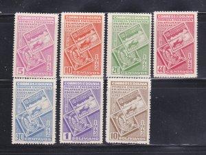 Bolivia 274-280 Set MNH Stamps On Stamps