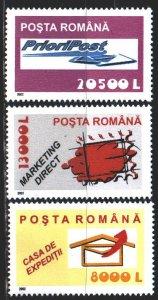 Romania. 2002. 5688-90. Post services. MNH.