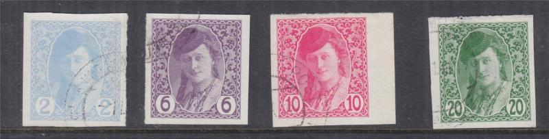 BOSNIA & HERZEGOVINA, Newspaper Stamps, 1913 set of 4, used.
