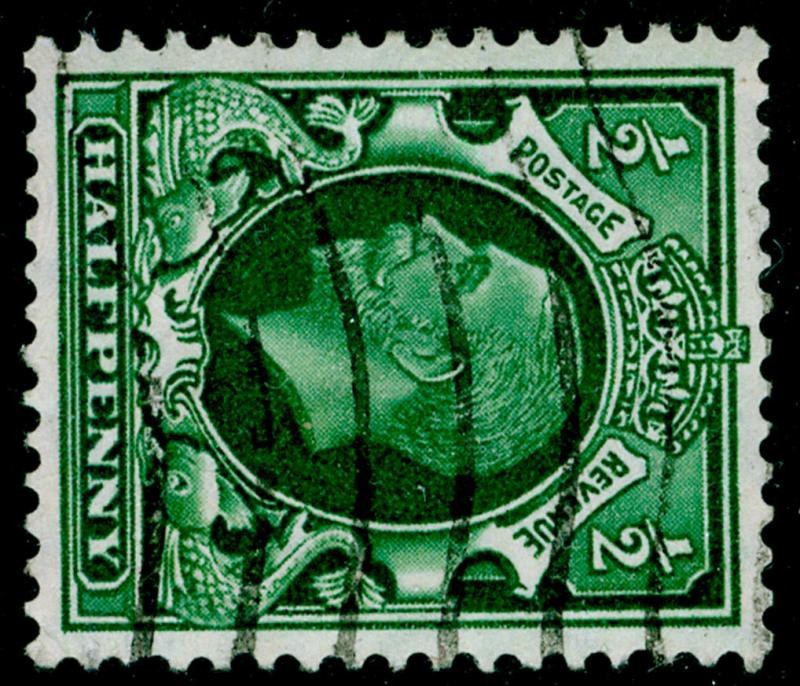SG439a, ½d green, USED. WMK SIDE