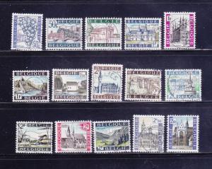 Belgium 641-646, 648, 650-657 U Various