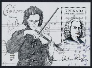 Grenada 1316 MNH Johann Sebastian Bach. Music