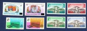 TRISTAN DA CUNHA - # 99-100 & 109-112 & others  - VFMNH - WHO, prince alfred