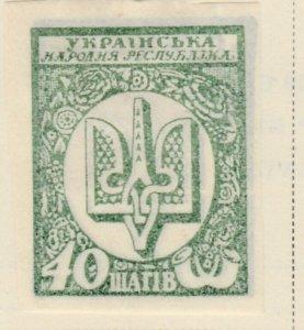 UKRAINE 1918 40sch Imperf Very Fine MH* A8P16F28