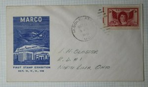 Marco Stamp Club Middle River MD Philatelic Convention Cachet Cover 1948