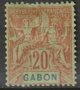 Gabon 1904 Sc 22 MH* some disturbed gum