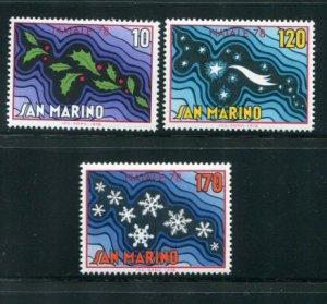 San Marino MNH 941-3 Christmas 1978