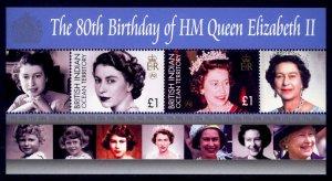 British Indian Ocean Territory Sc# 321 MNH 80th Birthday QEII (M/S)
