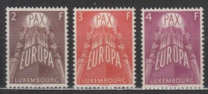 Luxembourg - 1957 Europa Sc# 329/331 - MH (7069)
