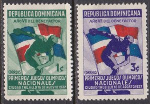 Dominican Republic Sc #326-327 Mint Hinged