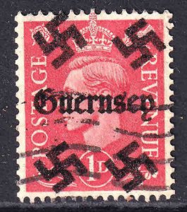 GREAT BRITAIN 1p GUERNSEY OVERPRINT USED XF SOUND