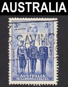 Australia Scott 186 F to VF used.