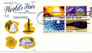 US FDC #2009a World's Fair Zip Block, Gamm (7274)