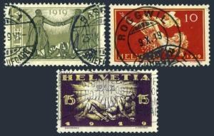 Switzerland 190-192,used.Michel 146-148. Commemorating Peace after WW I,1919.