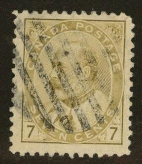 CANADA Scott 92 used 1903 7c KGV stamp CV$4
