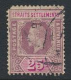 Straits Settlements George V  SG 205b Spacefiller Used