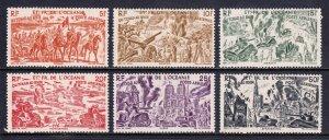 French Polynesia - Scott #C11-C16 - MH - SCV $17