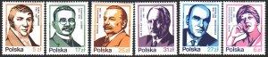 Poland. 1983. 2856-61. Polish famous people, poets, composers. MNH.