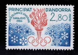 Andorre (French) Andorra Scott 321  MNH** 1983 stamp