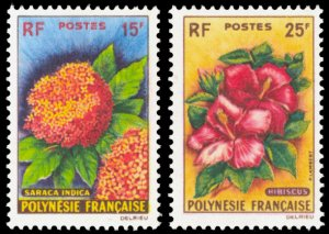 French Polynesia 1962 Scott #196-197 Mint Never Hinged