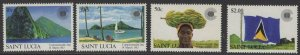 ST.LUCIA SG633/6 1983 COMMONWEALTH DAY MNH