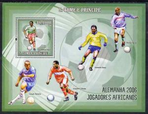 St. Thomas & Prince Islands MNH S/S World Cup Soccer Sports 2006