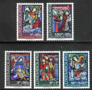 Luxembourg MNH B287-91 Christmas 1972