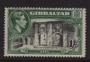 Gibraltar 1938 KGVI 1/- perf 14 SG 127 MH