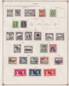 NIUE - INTERESTING MINT & USED GROUP REMOVED FROM PAGES - X399