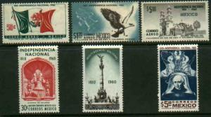 MEXICO 910-912, C250-C252, 30c Sesquicent Mexican Independence. MINT, NH. VF.