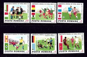 Romania 3367-72 MNH 1986 World Cup Soccer