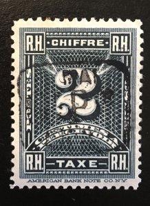 Haiti J1 1898 postage due, precancel, original gum, hinged, Vic's Stamp Stash